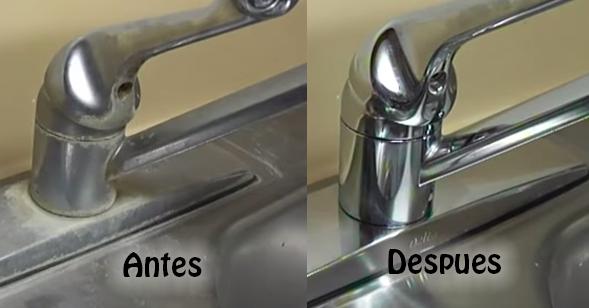 Como eliminar las manchas de los grifos y fregaderos - Como quitar la cal de la mampara ...